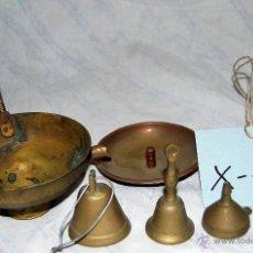 Antigüedades: 3 CAMPANAS, CEUNCO Y CENICERO EN BRONCE - 420. Lote 42979670