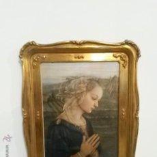 Antigüedades: MARCO POLICROMADO MUY BONITO CON LAMINA DE LA VIRGEN MARIA. Lote 42992159
