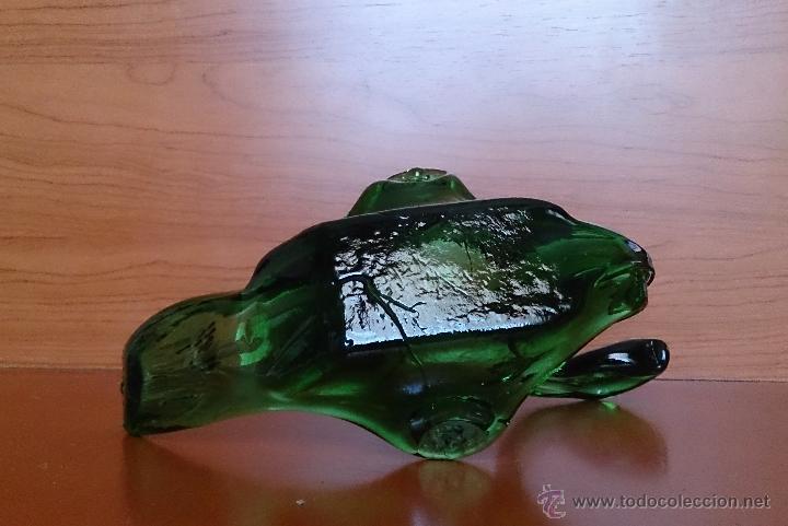 Antigüedades: Antiguo cisne en cristal Mallorquín soplado y modelado . - Foto 14 - 42995012