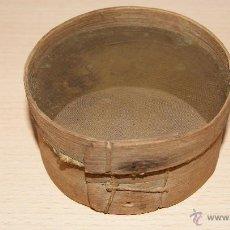 Antigüedades: ANTIGUA CRIBA O CEDAZO DE MADERA - TAMIZ DE COCINA ANTIGUO. Lote 43010735