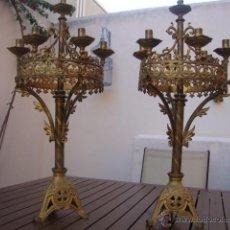 Antiques - extraordinaria pareja de candelabros - 43016710