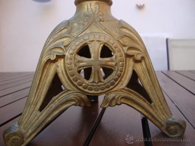 Antigüedades: extraordinaria pareja de candelabros - Foto 3 - 43016710