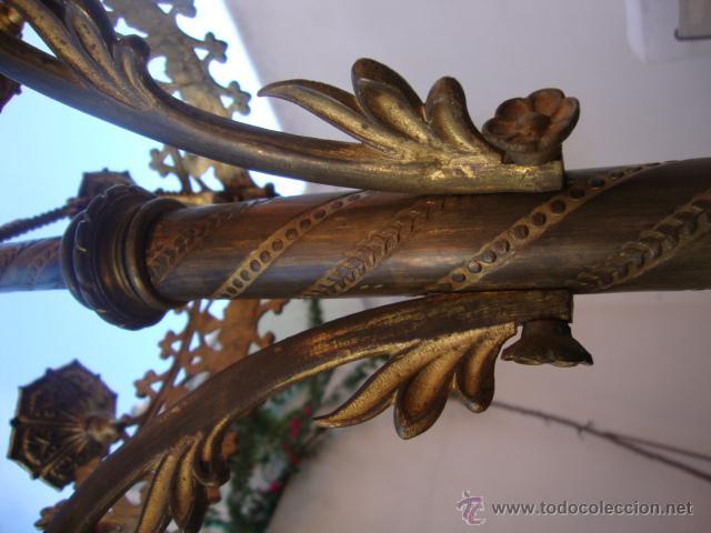 Antigüedades: extraordinaria pareja de candelabros - Foto 4 - 43016710