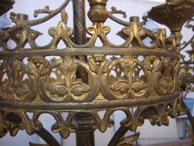 Antigüedades: extraordinaria pareja de candelabros - Foto 8 - 43016710