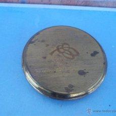 Antigüedades: POLVERA METAL CON LETRA INICIAL. Lote 43022923