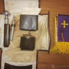 Antigüedades: CARTERA PARA LA EXTREMAUNCIÓN,CON UTENSILIOS,AÑOS 50. Lote 43034500