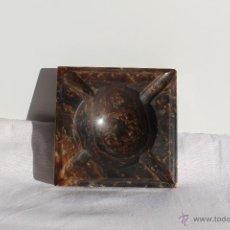 Antigüedades: ANTIGUO CENICERO DE AGATA CUADRADO. Lote 43040177