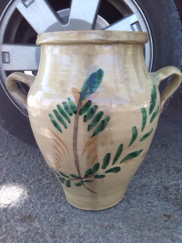 ANTIGUA ORZA DE LUCENA PINTADA A MANO (Antigüedades - Porcelanas y Cerámicas - Lucena)