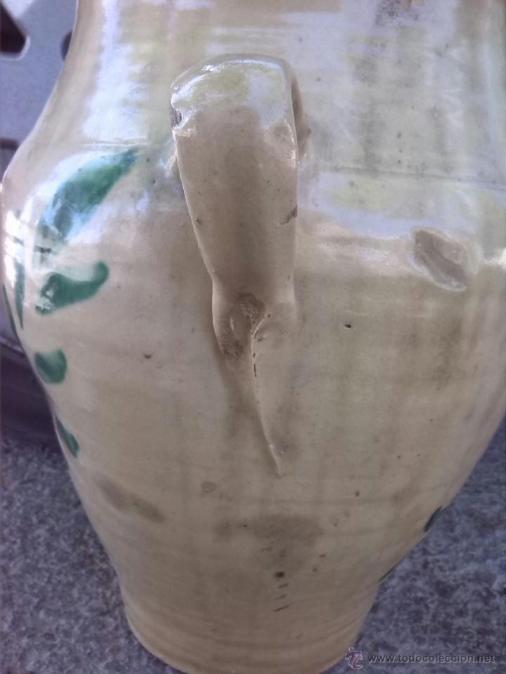 Antigüedades: antigua orza de lucena pintada a mano - Foto 4 - 43042239