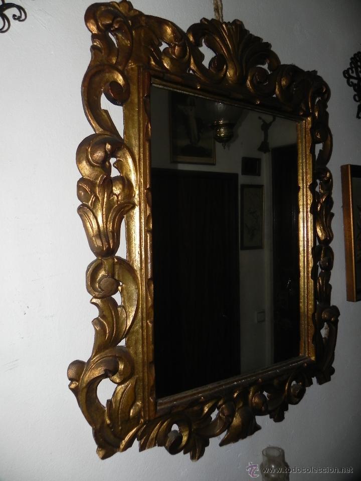 Vendo espejo con marco antiguo ver m s fotos comprar espejos antiguos en todocoleccion - Marcos espejos antiguos ...