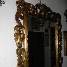 Antigüedades: VENDO ESPEJO CON MARCO ANTIGUO (VER MÁS FOTOS É INFORMACIÓN EN EL INTERIOR).. Lote 54051586