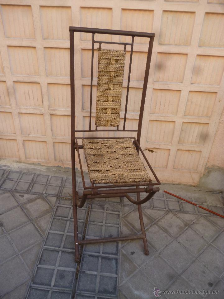 SILLA ARTESANAL DE MARRUECOS (Antigüedades - Muebles Antiguos - Sillas Antiguas)