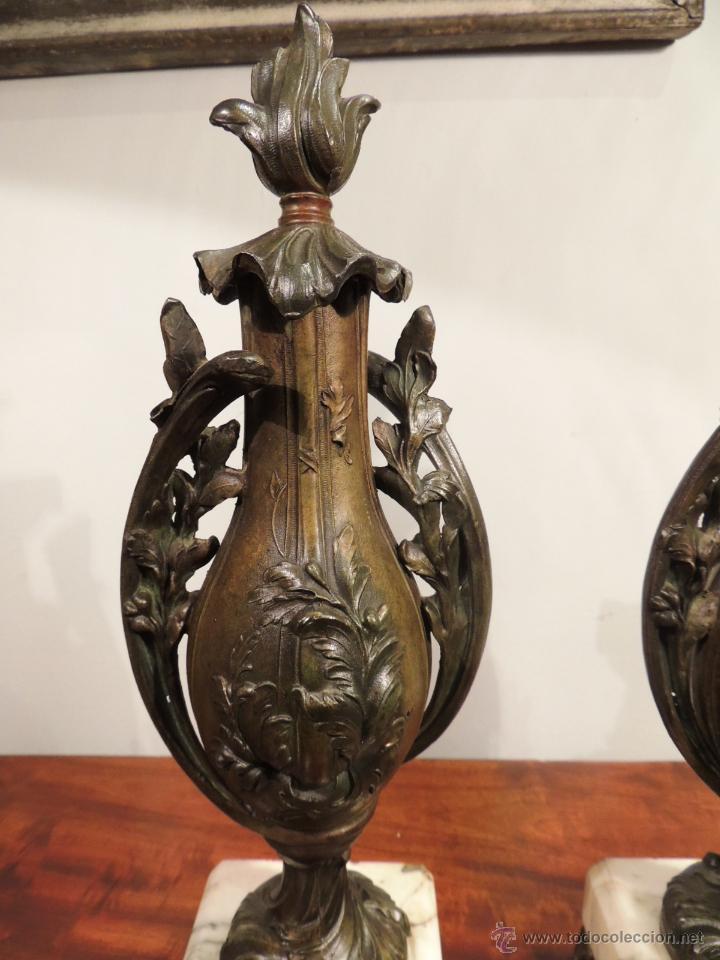 Antigüedades: PAREJA DE COPAS O CAZOLETTES DE CALAMINA SOBRE MARMOL CON UN AIRE MODERNISTA - Foto 3 - 43073821