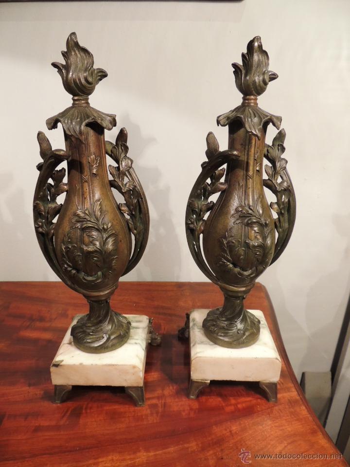 Antigüedades: PAREJA DE COPAS O CAZOLETTES DE CALAMINA SOBRE MARMOL CON UN AIRE MODERNISTA - Foto 6 - 43073821