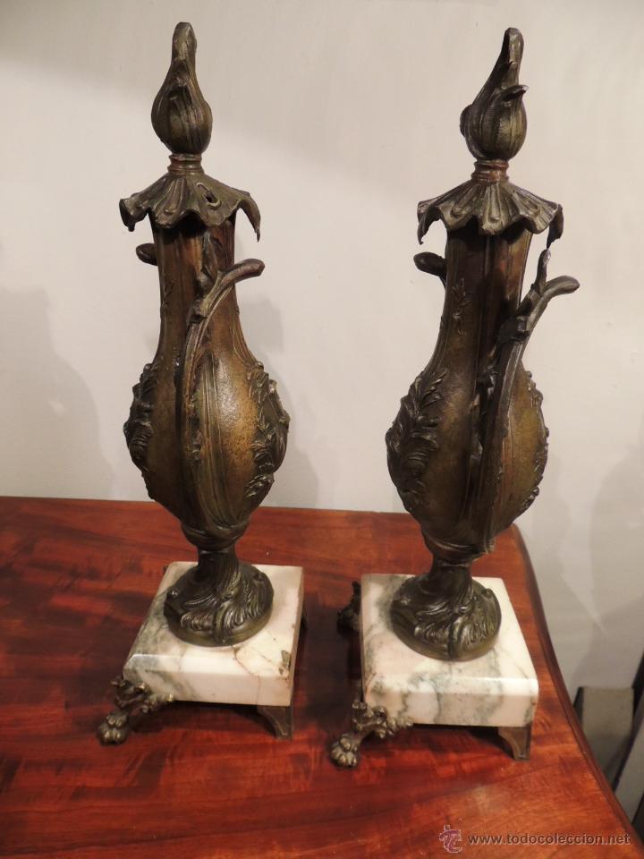 Antigüedades: PAREJA DE COPAS O CAZOLETTES DE CALAMINA SOBRE MARMOL CON UN AIRE MODERNISTA - Foto 7 - 43073821