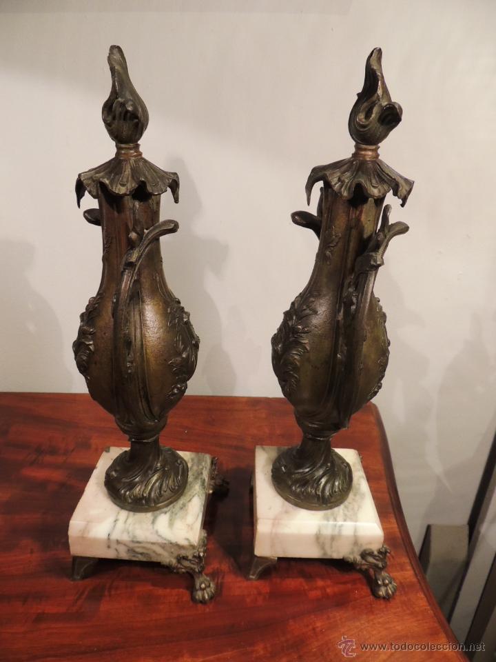 Antigüedades: PAREJA DE COPAS O CAZOLETTES DE CALAMINA SOBRE MARMOL CON UN AIRE MODERNISTA - Foto 8 - 43073821