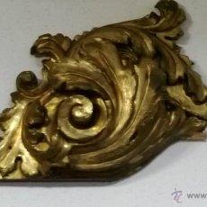 Antigüedades: IMPRESIONANTES VOLUTAS DE RETABLO EN TALLA DORADA EN BUEN ESTADO. Lote 59875466