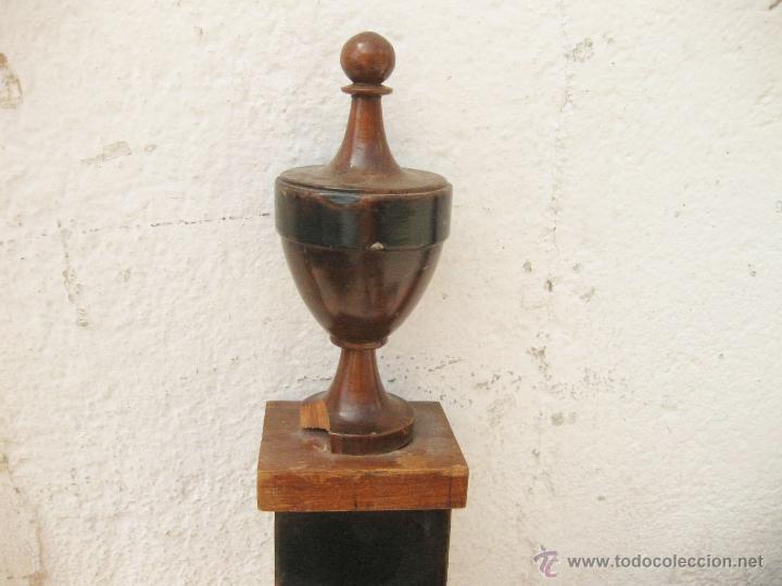 Antigüedades: CABECERO ANTIGUO DE CAMA CON MARQUETERIA Y ESCENA TAURINA - Foto 3 - 43083644