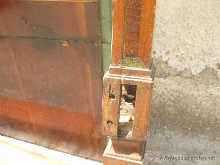 Antigüedades: CABECERO ANTIGUO DE CAMA CON MARQUETERIA Y ESCENA TAURINA - Foto 6 - 43083644