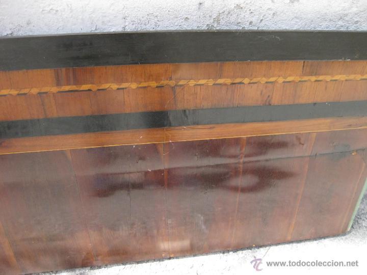 Antigüedades: CABECERO ANTIGUO DE CAMA CON MARQUETERIA Y ESCENA TAURINA - Foto 16 - 43083644