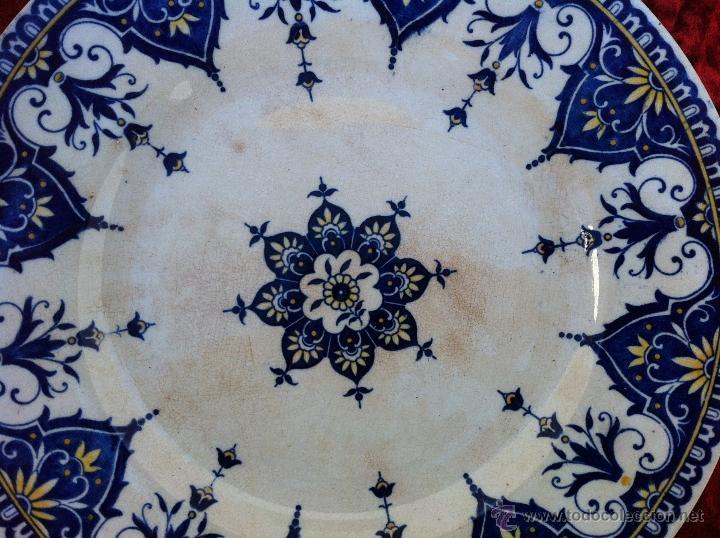 Antigüedades: PLATO ANTIGUO SELLADO SARREGUEMINES. PRIMER MITAD DEL SIGLO XIX - Foto 2 - 43087579