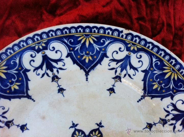 Antigüedades: PLATO ANTIGUO SELLADO SARREGUEMINES. PRIMER MITAD DEL SIGLO XIX - Foto 3 - 43087579