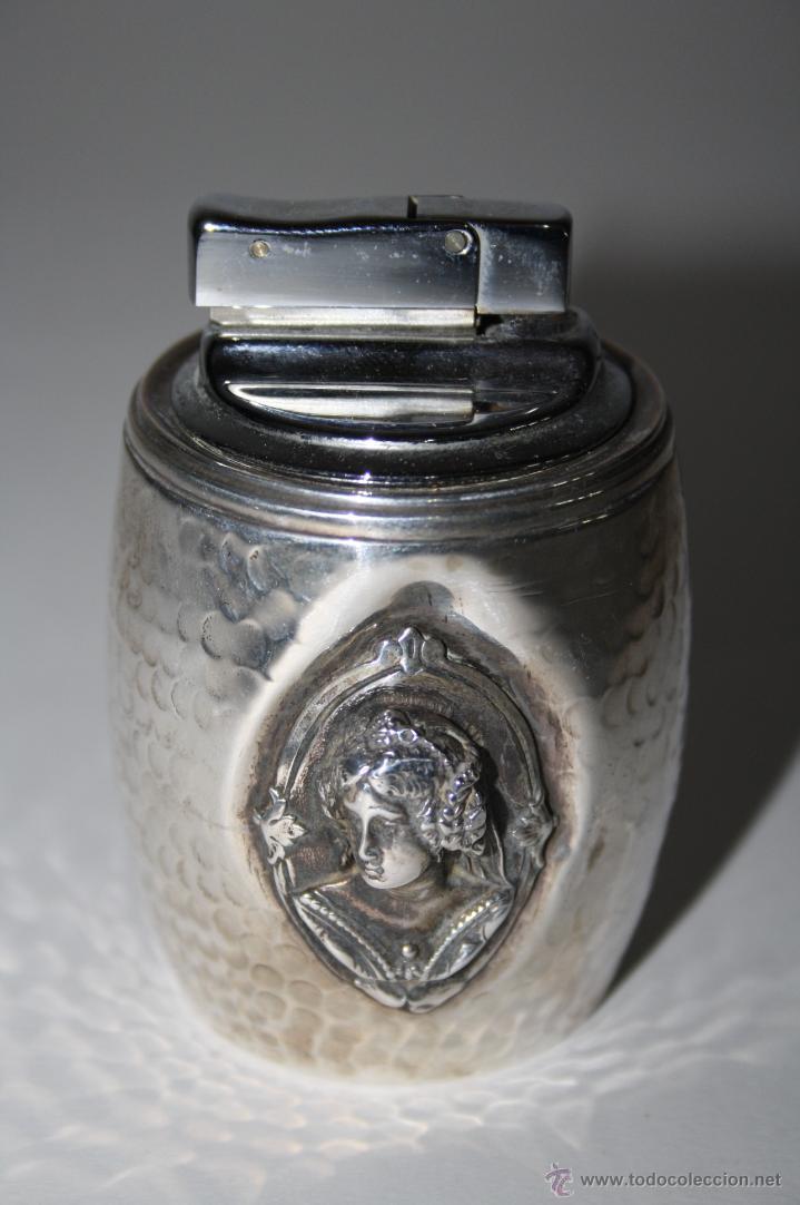 MECHERO EN PLATA DE LEY PUNZONADA, 135 GRAMOS APROX (Antigüedades - Platería - Plata de Ley Antigua)