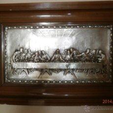 Antigüedades: ANTIGUO CUADRO REPUJADO. ÚLTIMA CENA.. Lote 99382694