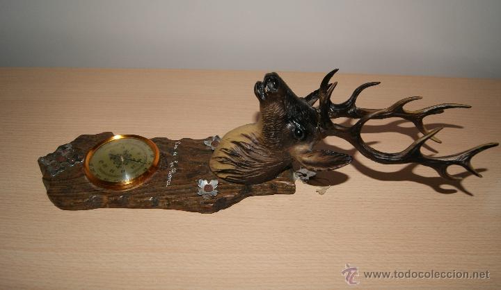 Antigüedades: Cabeza de ciervo y termómetro Recuerdo de la Alberca - Foto 5 - 43112841