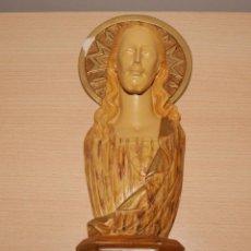 Antigüedades: SAGRADO CORAZÓN DE JESÚS EN ESCAYOLA - ANTIGUO. Lote 43112901