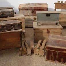 Antigüedades: LOTE DE BAULES - BAÚL - ARCONES - ARCÓN - MALETAS - ETC... JUNTOS O POR SEPARADO SE VENDEN. Lote 43114010