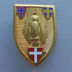 Antigüedades: MUY BUENA MEDALLA RELIGIOSA - ESMALTADA -CON AGUJA -BROCHE VIRGEN . Lote 43120604