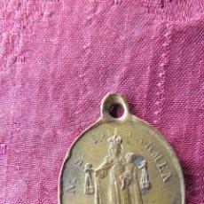 Antigüedades: MUY ANTIGUA MEDALLA VIRGEN NUESTRA SEÑORA DEL CARMEN. CORAZONES SANTOS DE JESUS Y MARIA. Lote 43133854