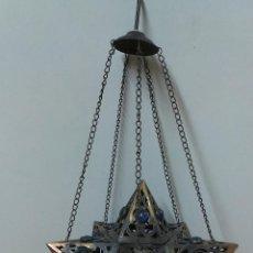 Antigüedades: LAMPARA O PORTA VELAS MARROQUI PARA COLGAR. Lote 43164301