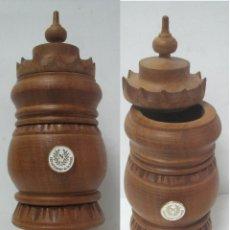 Antigüedades: TÍPICA COPA DE LA AMISTAD--COPIA DELL'AMICIZIA -FABRICADA EN MADERA NOBLE--VALLE DE AOSTA--ITALIA. Lote 43168780