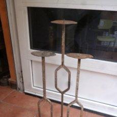 Antigüedades: CANDELABRO DE HIERRO. Lote 94650070