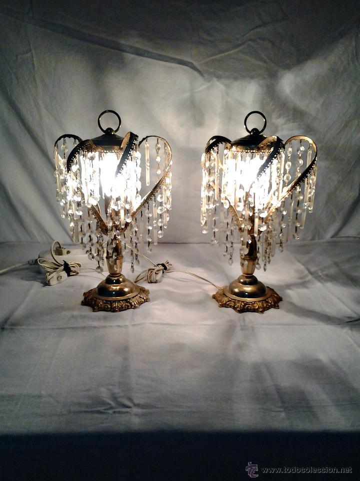 Antiguas lamparas de mesilla de noche en laton comprar - Lamparas de mesilla ...