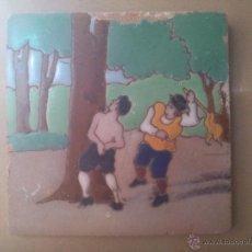 Antigüedades: AZULEJO DE RAMOS REJANO DEL QUIJOTE. Lote 43204864