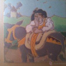 Antigüedades: AZULEJO DE RAMOS REJANO DEL QUIJOTE. Lote 43204875