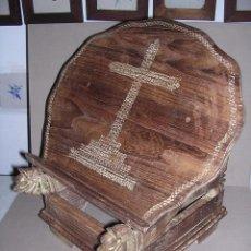 Antigüedades: (M) ANTIGUO ATRIL DE EPOCA IMPERIO PRINCIPIO S. XIX CON RESTOS DE POLICROMIA DE MADERA TODO ORIGINAL. Lote 43204892