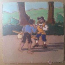 Antigüedades: AZULEJO DE RAMOS REJANO DEL QUIJOTE. Lote 43205046