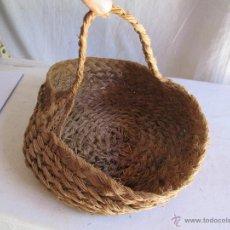 Antigüedades: CESTO DE ESPARTO. Lote 43207731