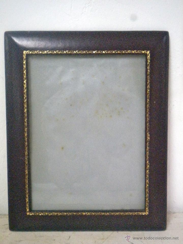 antiguo marco de fotos en piel repujada - marco - Comprar Marcos ...