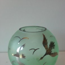 Antiquitäten - Antiguo florero cristal con figuras en plata - 43218413