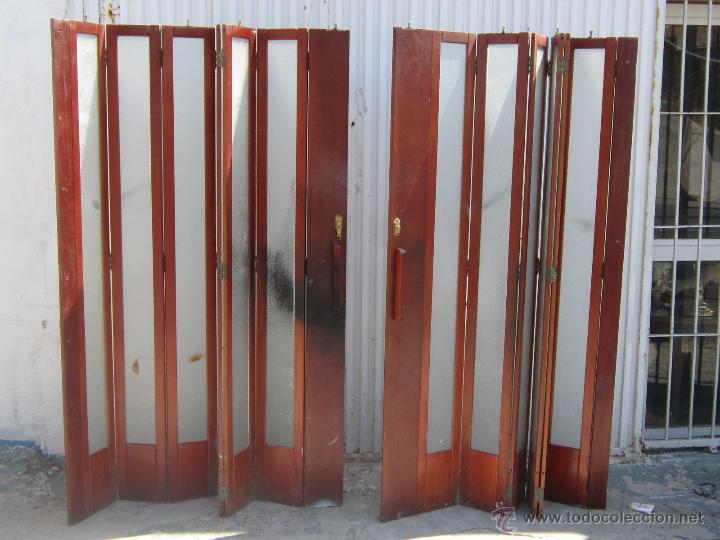 Puerta corredera en madera con cristales comprar muebles for Cristales antiguos para puertas
