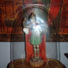 Antiquitäten - PRECIOSO FANAL ANTIGUO DE CRISTAL Y PEANA DE MADERA TALLADA EN ORO FINO - 43233881