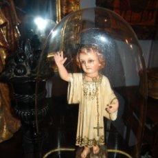 Antigüedades: PRECIOSO FANAL ANTIGUO DE CRISTAL Y PEANA DE MADERA. Lote 43234096