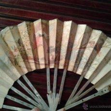 Antigüedades: ABANICO EN NÁCAR PARA RESTAURAR PAPEL PINTADO A MANO. Lote 43235305