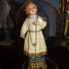 Antiquitäten - FANAL ANTIGUO DE CRISTAL Y PEANA DE MADERA - 43239357