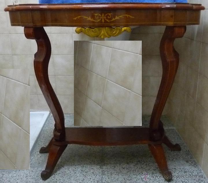 Antigüedades: CONJUNTO MUEBLES RECIBIDOR - AÑOS 40/60 - Foto 3 - 43250238